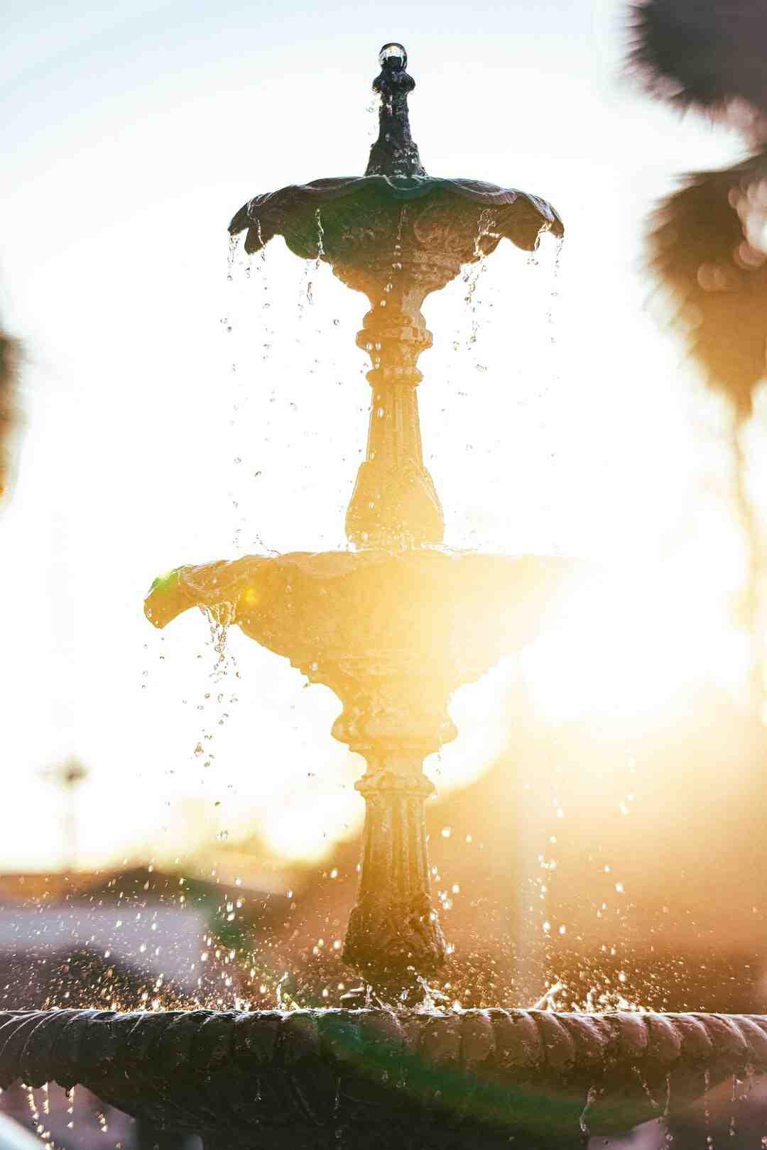 Comment faire une fontaine en béton ?