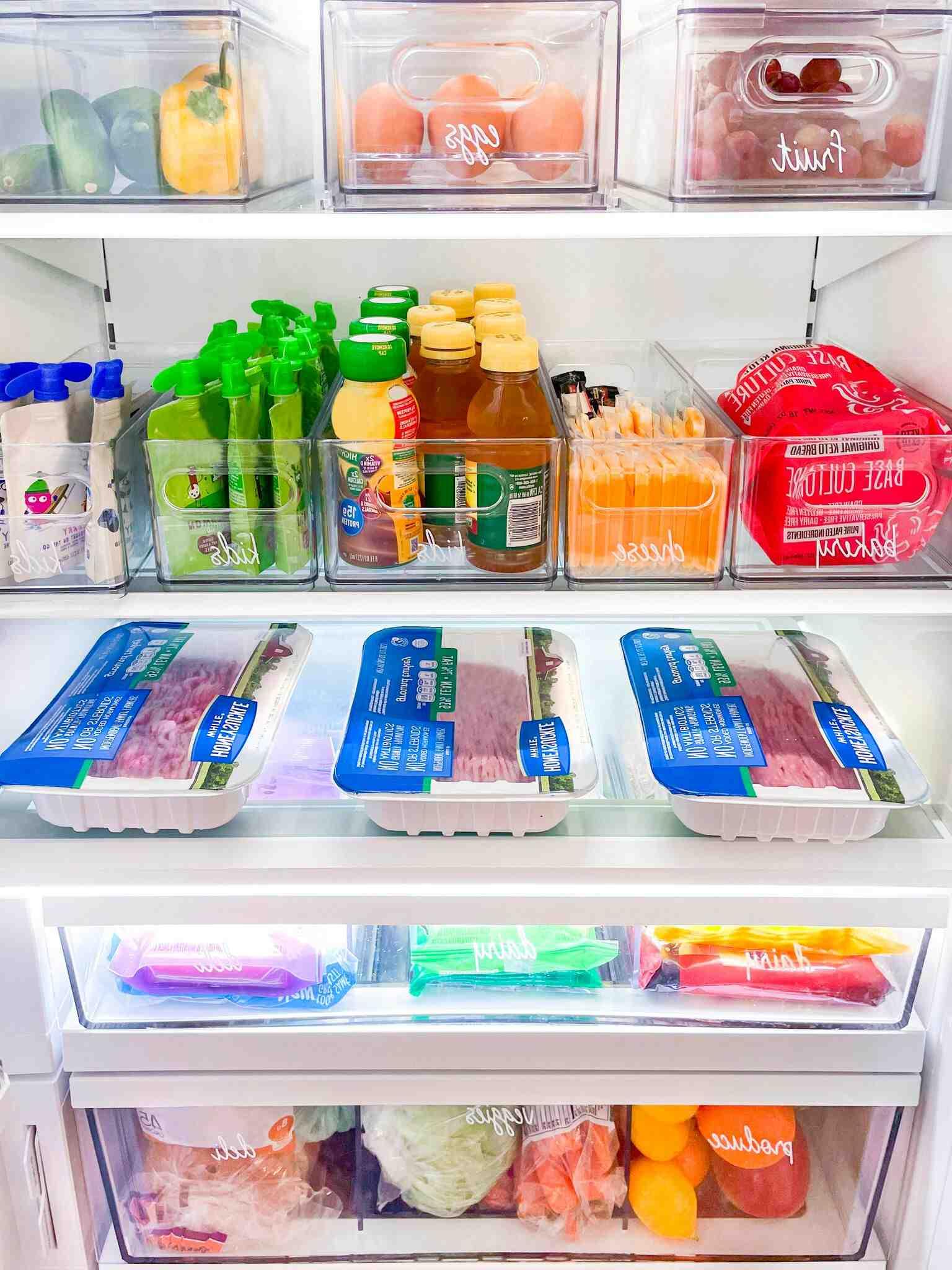 Comment ranger les aliments dans un frigo américain ?